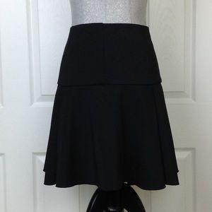 Vince Camuto Black Fit & Flare Midi Skirt SZ 12